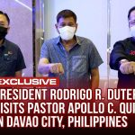 President Rodrigo Duterte with Pastor Apollo Quiboloy
